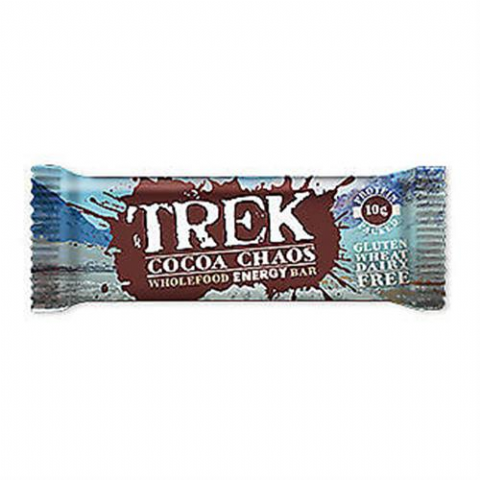 Cocoa Chaos - Trek Protein Energy Bar - No Added Sugar Gluten & Wheat Free 55g
